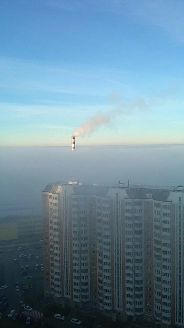 Туман. Вид с 25 этажа в Граде Московском.