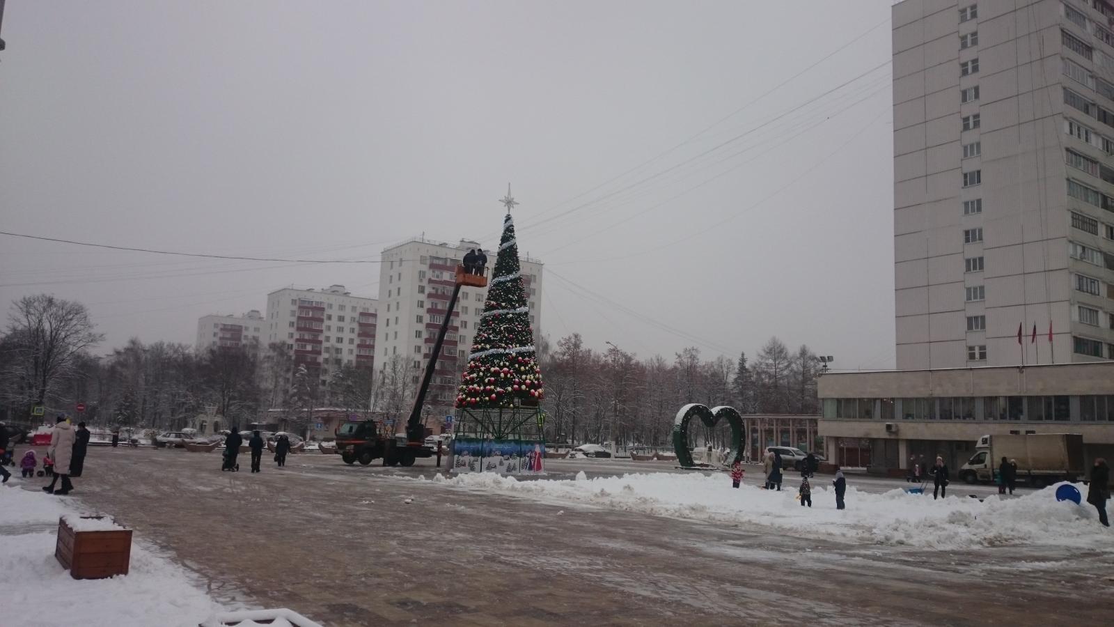 Установка новогодней ёлки