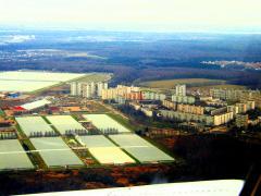 Агрокомбинат, совхоз, поселок, город Московский сверху