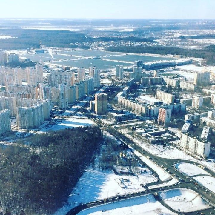 Город Московский сверху