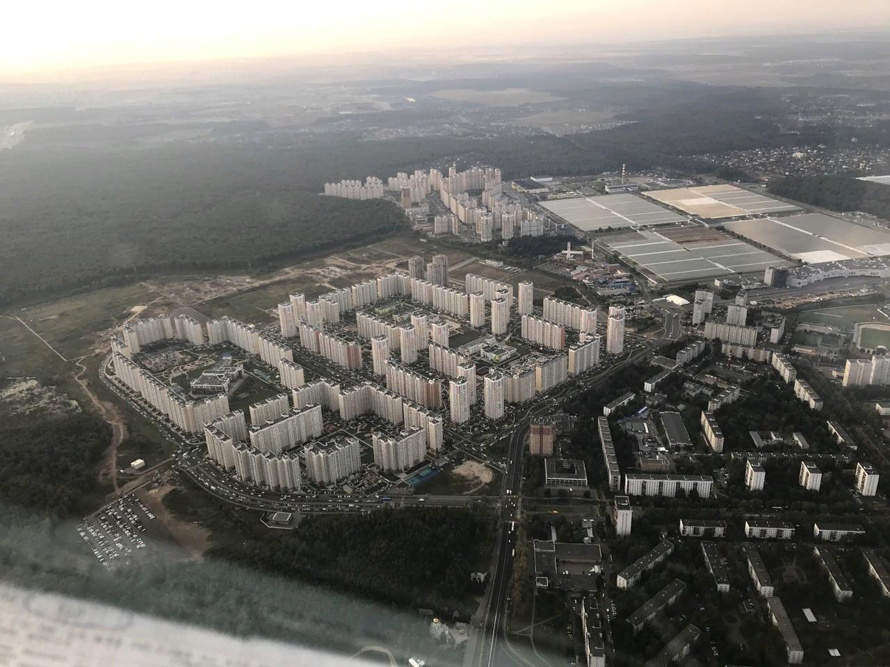 Первый Московский и мкр.1 с высоты